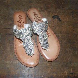 NAUGHTY MONKEY rhinestone flip flops sandals